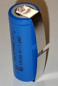 LI-ION Batterie Rechargeable 18500 3,7 Volt 2300mAh 8,51Wh Performance U Soudure