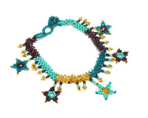 Seed Bead Star Fringe Dangle Anklet Women's Fashion Guatemalan Handmade Jewelry