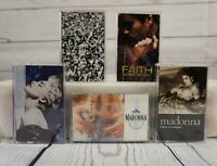 MADONNA GEORGE MICHAEL Cassette Tape Lot x5 Faith Prejudice Virgin Prayer Blue