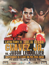 Original Vintage Julio Cesar Chavez Jr. vs. Jason Lehoullier Boxing Fight Poster