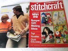 ORIGINAL, VINTAGE, STITCHCRAFT MAGAZINE, DECEMBER 1975 No. 504