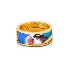 DISNEY Princess Gold-Plated Aladdin Jasmine Dichiarazione braccialetto largo