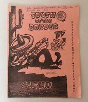 VTG Restaurant Menu 1957 South Of The Border South Carolina Mid Century Graphic