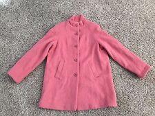 $300 Vtg Vintage APPLESEEDS Long Mohair Wool Coral Coat Womens 12 L Alpaca