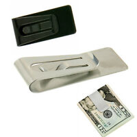 New Slim Money Cash Wallet Clip Credit Business Card Stainless Steel Holder