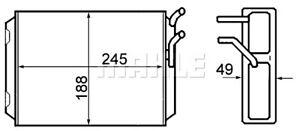 Volvo 780 760 740 960 1981-1998 BEHR Heater Core Exchanger 8FH351308-761