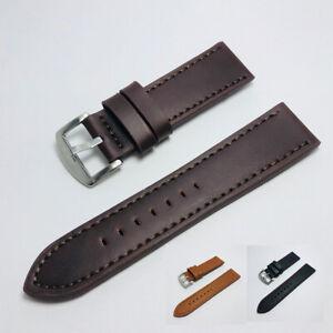 18-24MM Solid Grain Genuine Leather Watch Band Watch Strap Men Women Strap