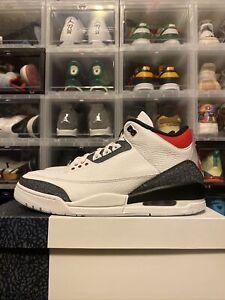 Air Jordan 3 Retro Denim SE Fire Red CZ6431-100 Men's Size 12