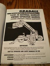Gradall 544d Forklift Lift Truck Material Handler Operator Maintenance Manual
