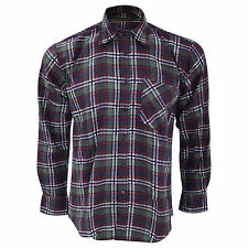 Plaid Long Sleeve Button Down Casual Shirts & Tops for Men