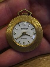 Cimier Gold Plated Pocket Watch Wind Up Working