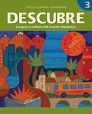 DESCUBRE, nivel 3 - Lengua y cultura del mundo hispánico - Student Edition, Colb