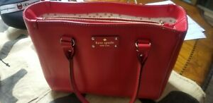 Kate Spade New York Women's Red Tote Bag (red, medium size, in great condition)
