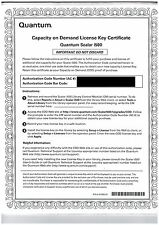 Quantum COD Certificate Scalar I500 PN: 9-00981-02 SlotExpansion License NEW/NEU