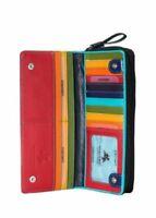 Visconti SP35 Ladies Multi-Color Leather Checkbook Wallet Purse Clutch Card Case
