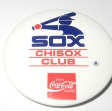 1980's Baseball Pin Button Coin Chicago White Sox Coca Cola Youth Club Pinback