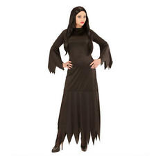 Femme Femmes Morticia Halloween Fancy Dress Costume Outfit S