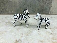 Miniature Porcelain Zebra Mom And Baby