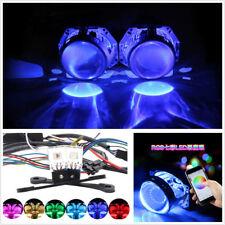 2 X RGB LED Eagle Eye Daytime Running Lights Car Demon Eye Headlight APP Control