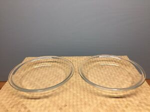 Vintage Pyrex Pie Plate 8 Inch 208 Clear Glass Flat Rim ~ 1 1/4 inch Deep
