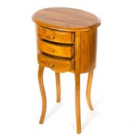 Teak 3 Drawer Side Table/Lamp Table/Hand Crafted/Rustic/72x42x31