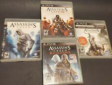 Assassin's Creed Playstation 3 Lot - 1 2 3 + Revelations (All CIB)