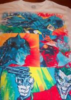 VINTAGE STYLE Dc Comics BATMAN VS THE JOKER POP ART T-Shirt XL NEW