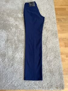 "BNWT Unisex Golf Trousers Navy Size UK 6 / 27"" Waist / Inside Leg 31"""