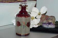 Moser 6.25 Gilt Painted Enamel Ruby Panel Floral Satin Pontil Perfume Bottle Old