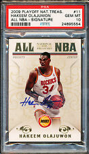 2009-10 NATIONAL TREASURES ALL NBA HAKEEM OLAJUWON AUTO 12/25 PSA 10 GEM MINT