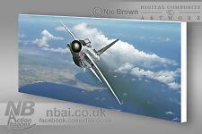 F.6 Lightning 56 Squadron RAF Akrotiri CANVAS PRINT, Digital Artwork.