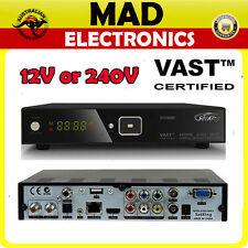 SatKing DVBS2-800CA VAST Satellite Receiver w/12V power Lead+IR extender Cable