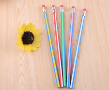 5PCS Hot Funny Magic Flexible Bendy Pencil with Eraser-Color Assorted For Kids