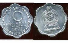 SRI LANKA  10 cents 1978   SPL