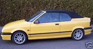 Renault R19 Cabrio Verdeck Stoff Montageanleitung R