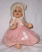 "13"" hard plastic pretty Baby cries, has glass eyes, cries, marked"