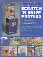 Vintage CREATIVE TEACHING PRESS scratch & sniff posters  ad sheet #0102