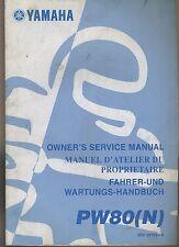 (24A) REVUE TECHNIQUE MANUEL ATELIER MOTO YAMAHA PW80 (N)
