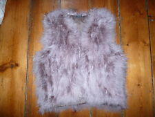KATE MOSS DUSKY PINK  FEATHER/FLUFFY  GILET/WAISTCOAT 12 TOPSHOP