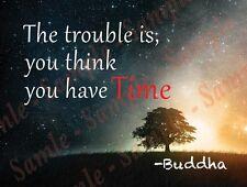 Trouble…Time: Buddha - Magnet Fridge/Locker 4x3 inches