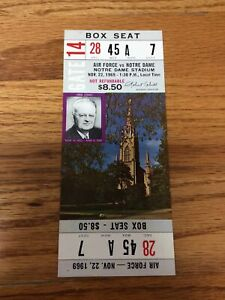 1969 NOTRE DAME FOOTBALL VS AIR FORCE FOOTBALL FULL TICKET