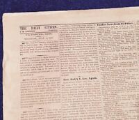 AUTHENTIC & VERY RARE **WALLPAPER**  VICKSBURG, MISS. JULY 2 & 4, 1863 NEWSPAPER