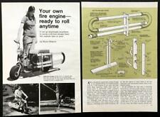 Minibike Fire Engine 1974 HowTo Build PLANS Water from nearby pool pond stream
