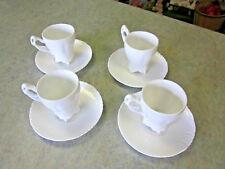 Maryland China Co.  White Demitasse Cups  Set of 4    NEW!