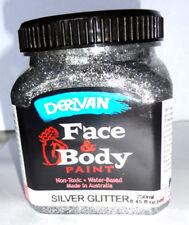FACE PAINTS - DERIVAN GLITTER FACE PAINTS - 1 SILVER 250ml bottle