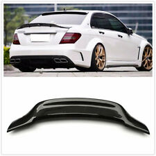 R Carbon Fiber Rear Spoiler Trunk Wing for 2008-14 Benz W204 C200 C63 AMG Sedan