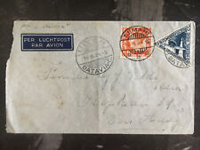 1934 Tjimahi etherlands Indies to The Hague FFC First Flight Cover KLM
