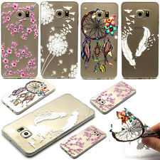 Ultra Thin Case Cover Pattern Clear Soft TPU Silicone Transparent 4Motif Fashion