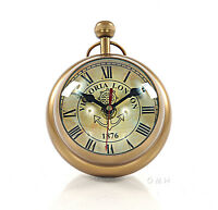 "Desk Top Clock Paper Weight 8"" Aluminum Pocket Travel Watch Nautical Decor New"