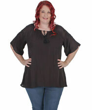 Rayon V-Neckline Short Sleeve Solid Tops for Women